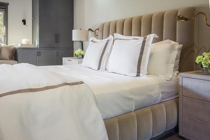 Bedroom With Cement Nightstand Modern Bedroom