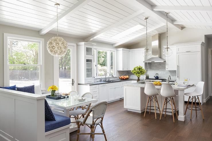 Eat In Kitchen With Built In Bench Window Seat Cottage