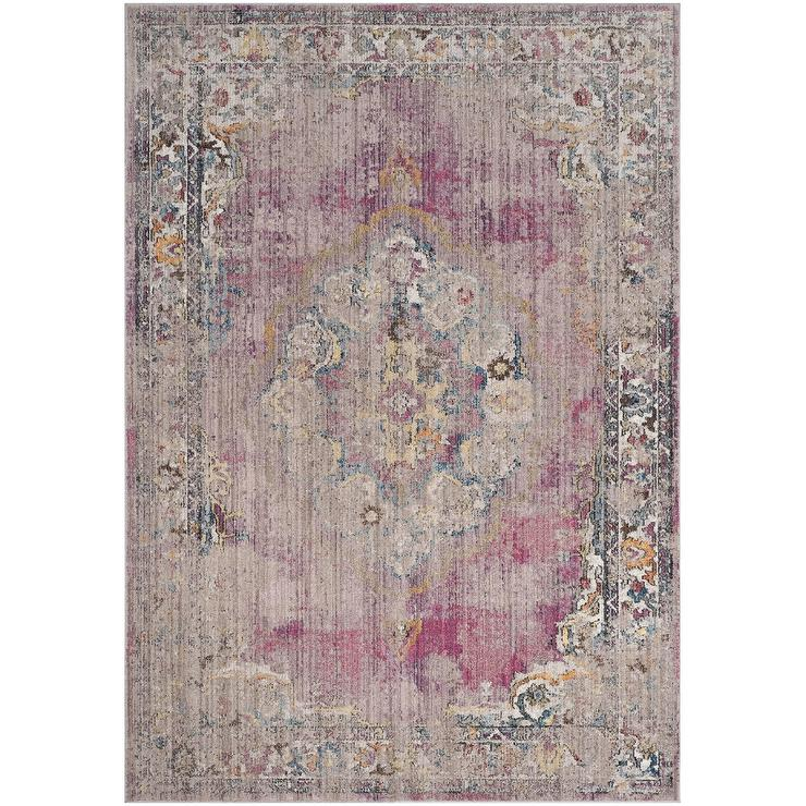 Pink And Gray Vintage Wool Rug Threshold Target