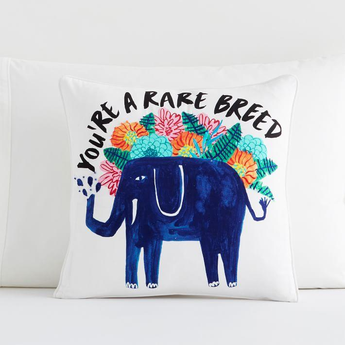Turquoise Elephant Animal Cushion