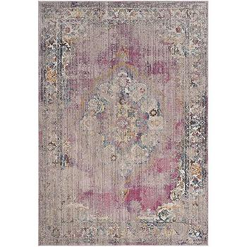Sivas Wool Pink And Grey Kilim Rug