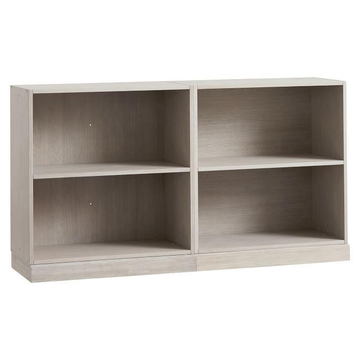 Vertical Slanted Shelves Wood Bookcase