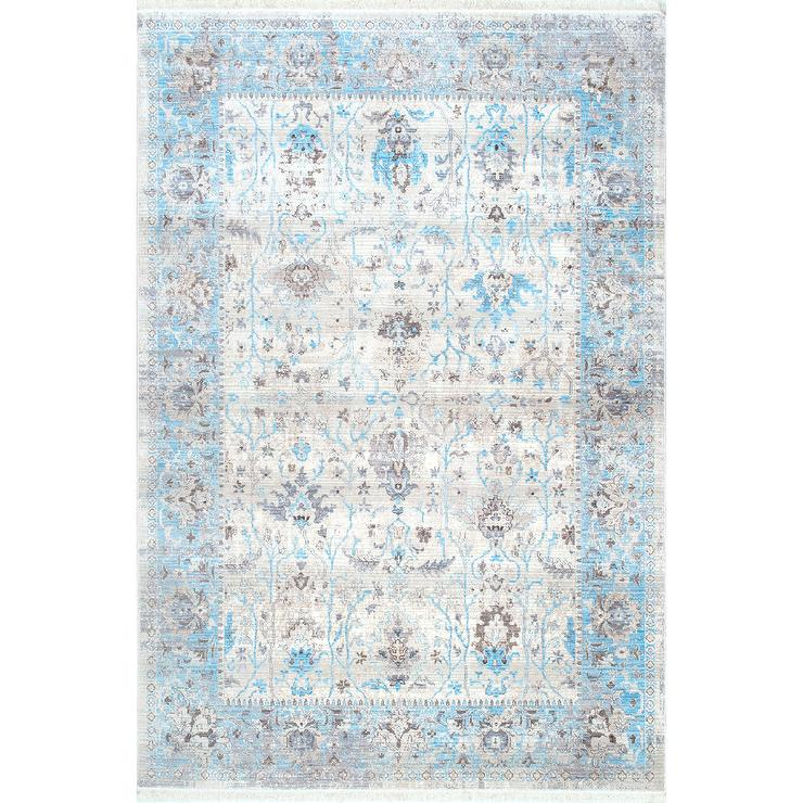 Pale blue and white rug rugs ideas for Blue and white carpet