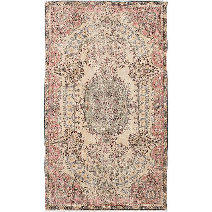 Vintage Gray Pink Rug - Products
