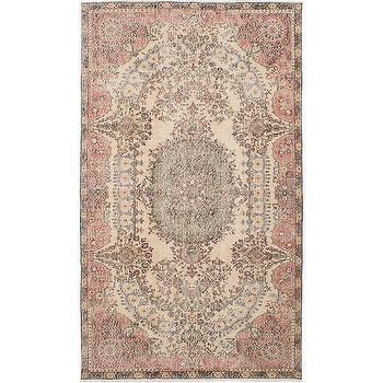 Hali House Distressed Persian Pink Rug