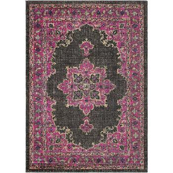pink and black antique persian rug. Black Bedroom Furniture Sets. Home Design Ideas