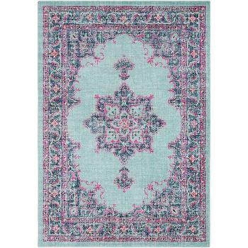 Distressed Blue Pink Rug Products bookmarks design inspiration
