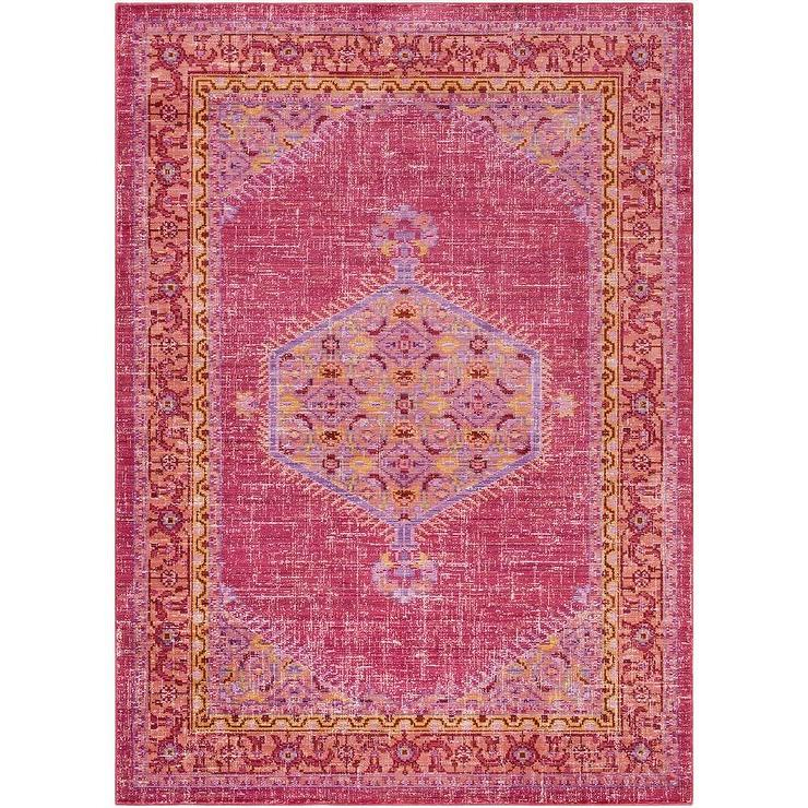 Modern Persian Tabriz Design Rug 44687 Nazmiyal Antique Rugs: Vintage Pink Rug
