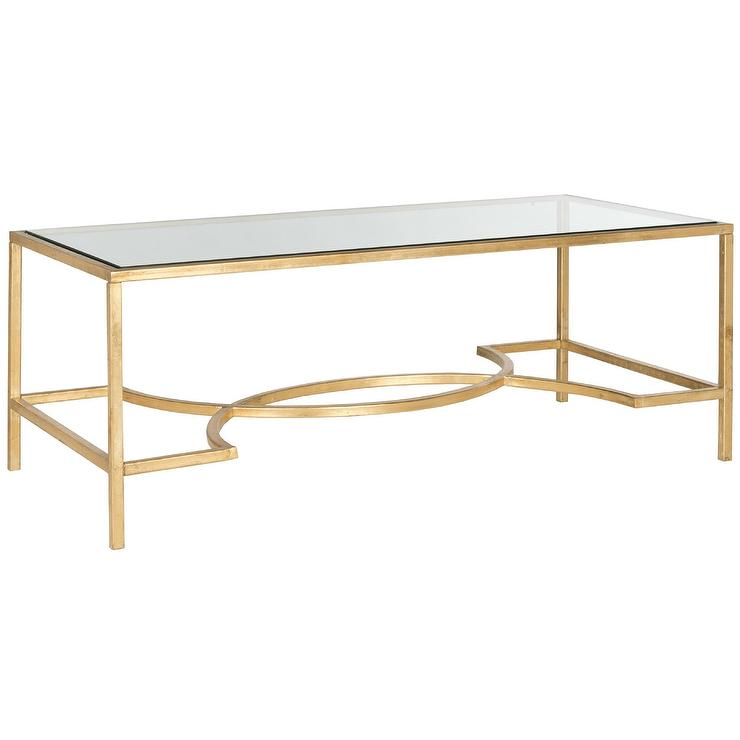 317f65b5e34564 Simple 3 Layer Gold Glass Coffee Table