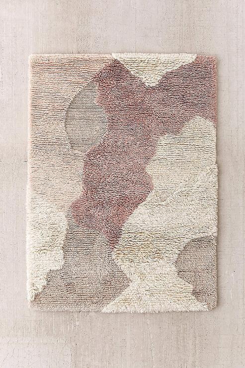 Plush Wool Shag Ivory Rug