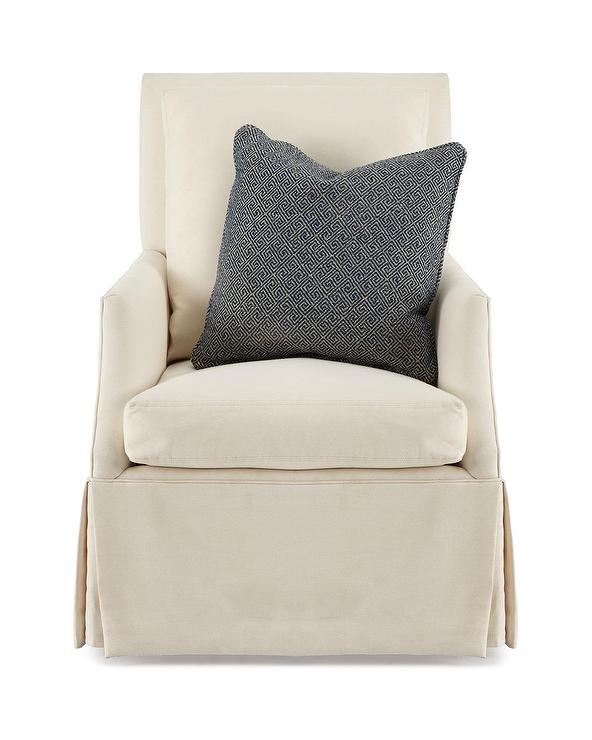 Austin Beige Slipcover Rocking Chair