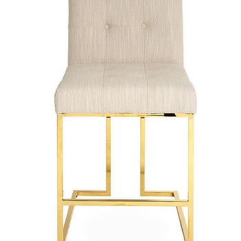 Threshold Brookline Ivory Button Tufted Counter Stool