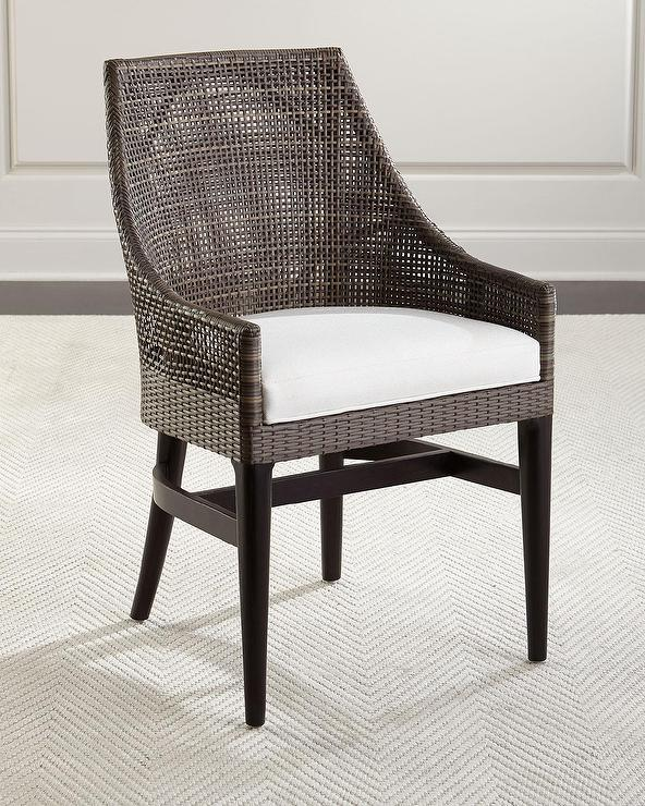 Merveilleux Palecek Grayson Woven Rattan Side Chair