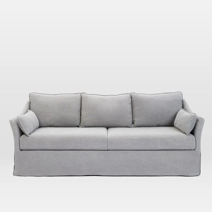 Antwerp Gray Linen Slipcovered Sofa