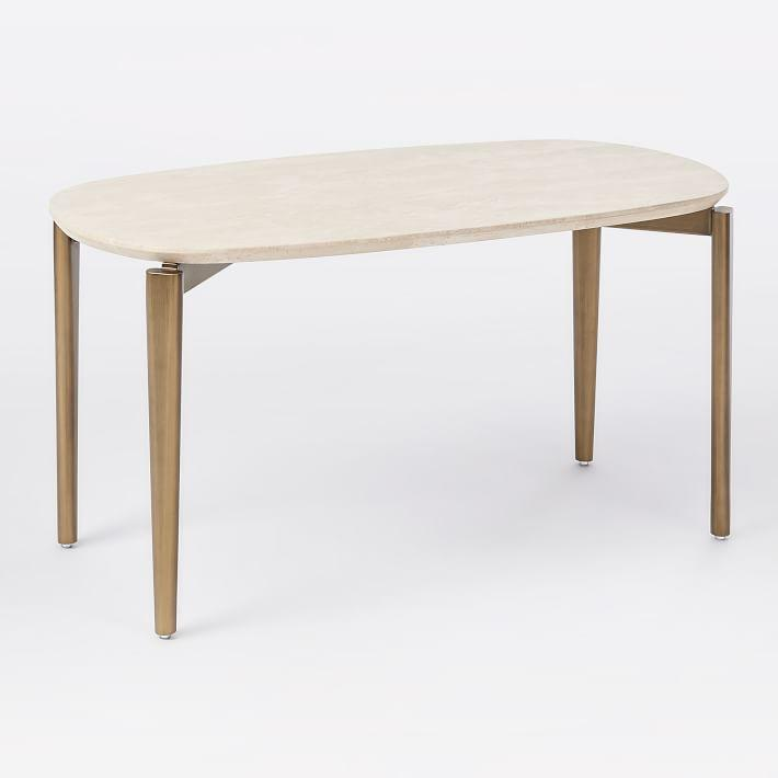 ellipse oval brass coffee table
