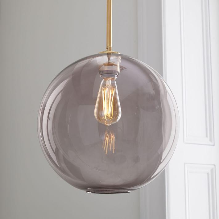 Large sculptural smoke glass globe pendant aloadofball Gallery