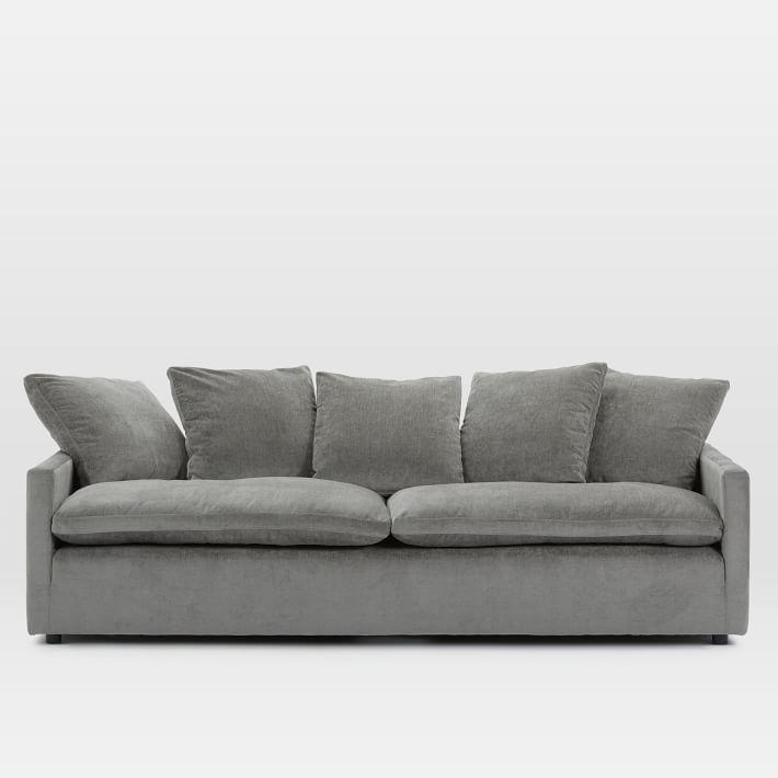 Retreat Dark Gray Velvet Sofa