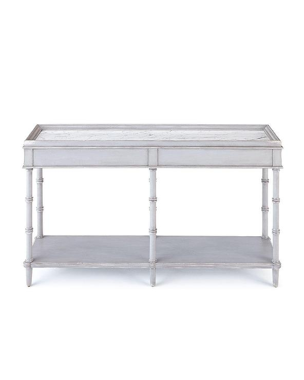 Lady Marble Gray Wood Console Table
