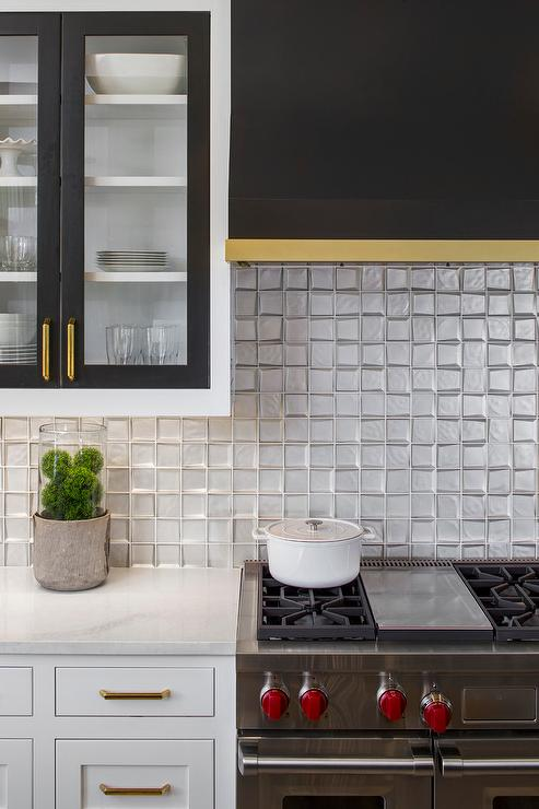 Black Grid Backsplash Contemporary Kitchen Cameron