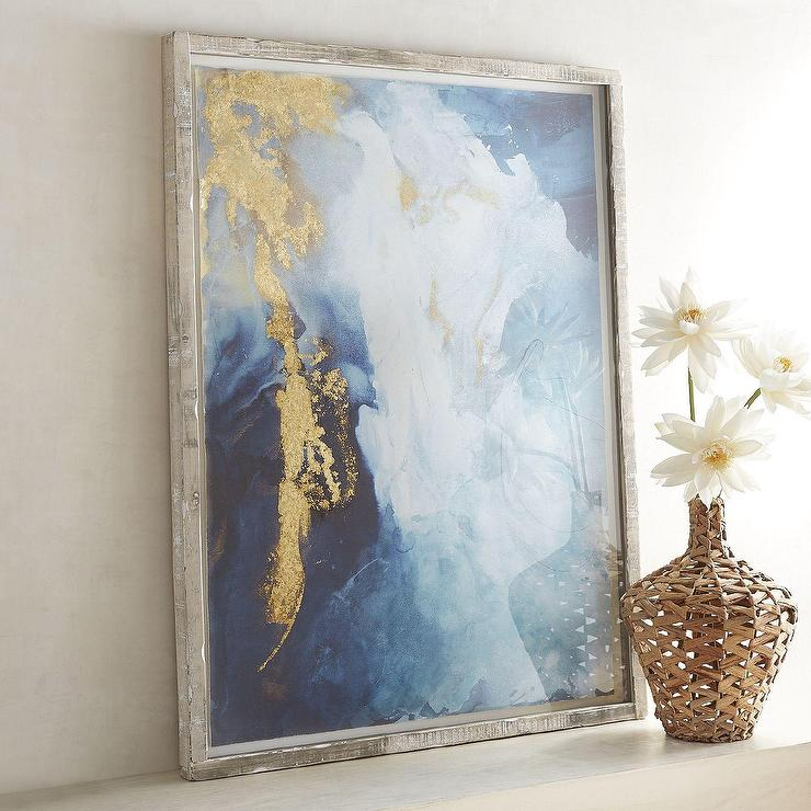 Abstract Gold Indigo Framed Art