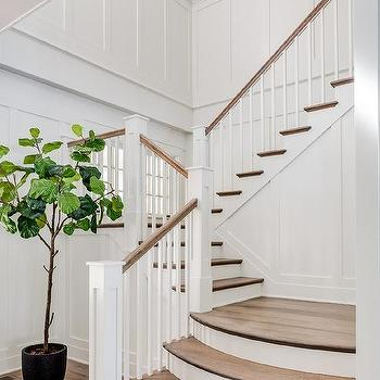 Stained Oak Curved Stair Treads