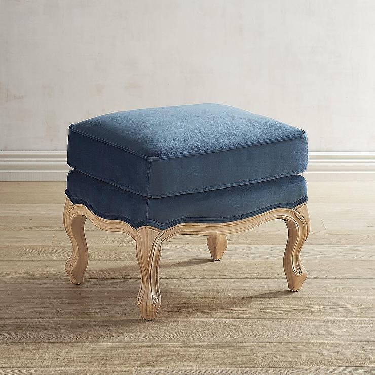 Phenomenal Magnolia Home Mclennan Navy Ottoman Spiritservingveterans Wood Chair Design Ideas Spiritservingveteransorg