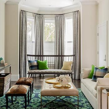 Zebra Ottoman Contemporary Living Room Sherwin