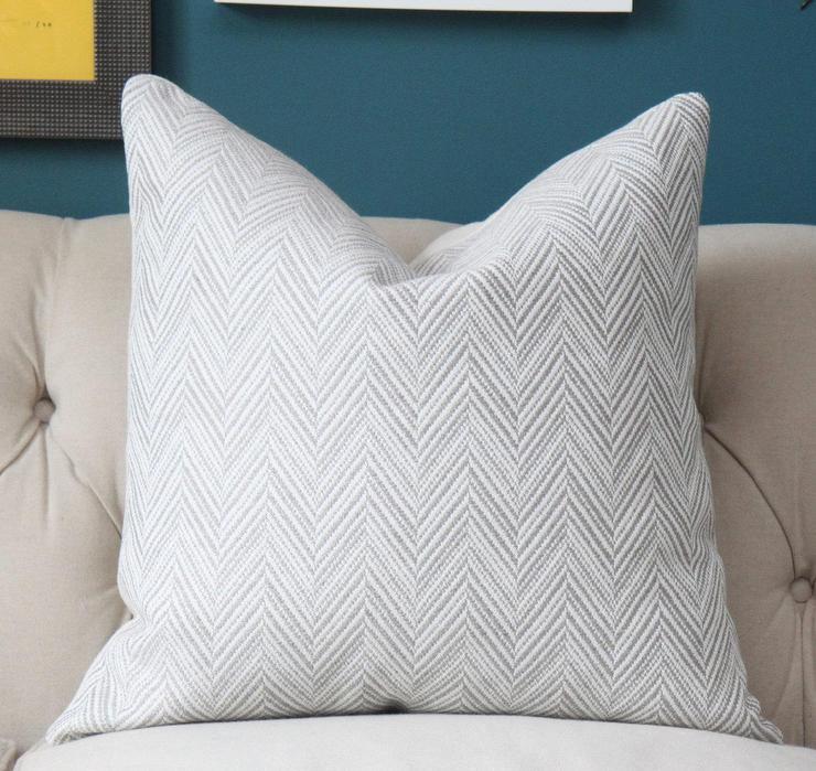 Gray Yellow Herringbone Toss Pillow Pillows And Throws
