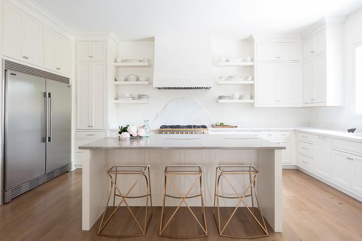 Peachy Gold Metal And Acrylic Counter Stools With Island Inzonedesignstudio Interior Chair Design Inzonedesignstudiocom