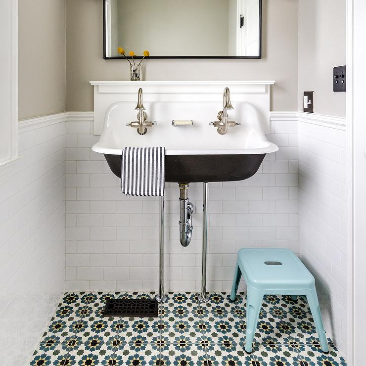 Aqua Foot Stool With Kohler Brockway Sink Transitional