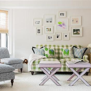 Living Room Lilc X Stools Design Ideas