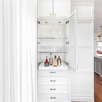 Glass And Brass Bar Shelves Design Ideas