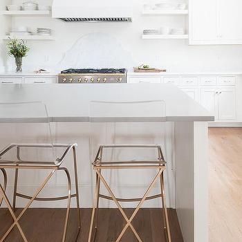 Phenomenal Gold Metal And Acrylic Counter Stools Design Ideas Inzonedesignstudio Interior Chair Design Inzonedesignstudiocom