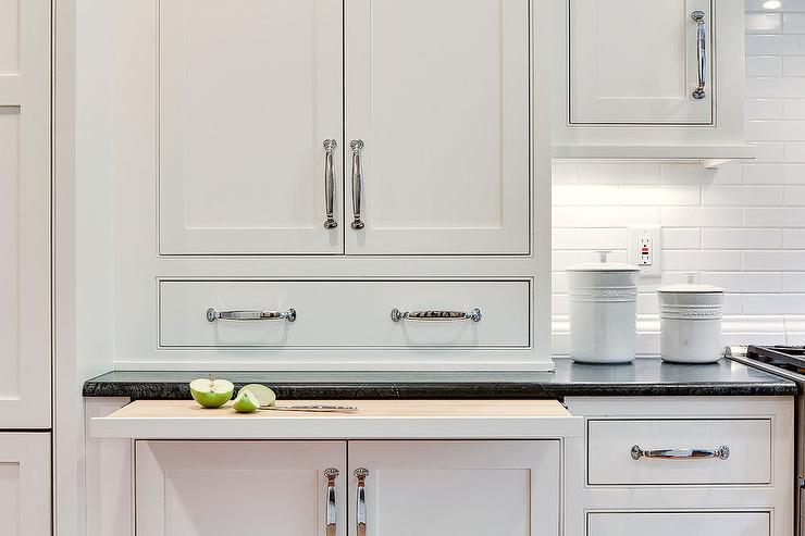 Remarkable Under Counter Pull Out Cutting Board Transitional Kitchen Download Free Architecture Designs Sospemadebymaigaardcom