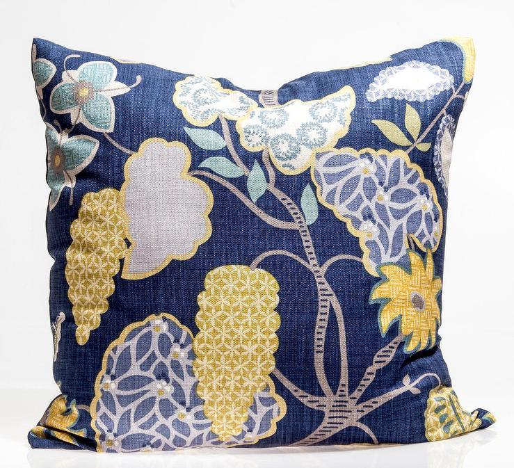 244d10525ac4cd Villa Nova Navy Yellow Floral Pillow