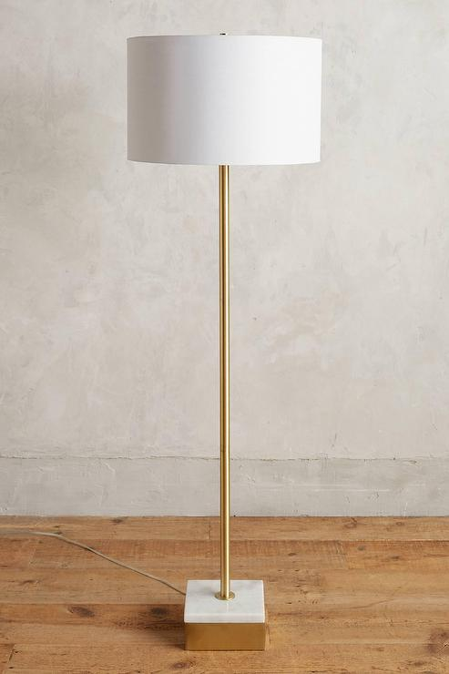 Anchorage gold marble base floor lamp mozeypictures Images