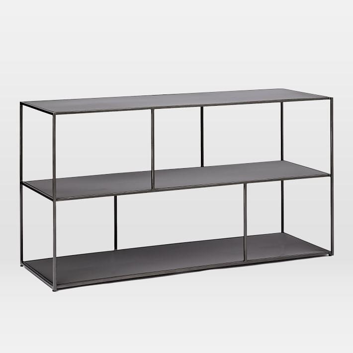 Linnea Black Iron Bookshelf Console