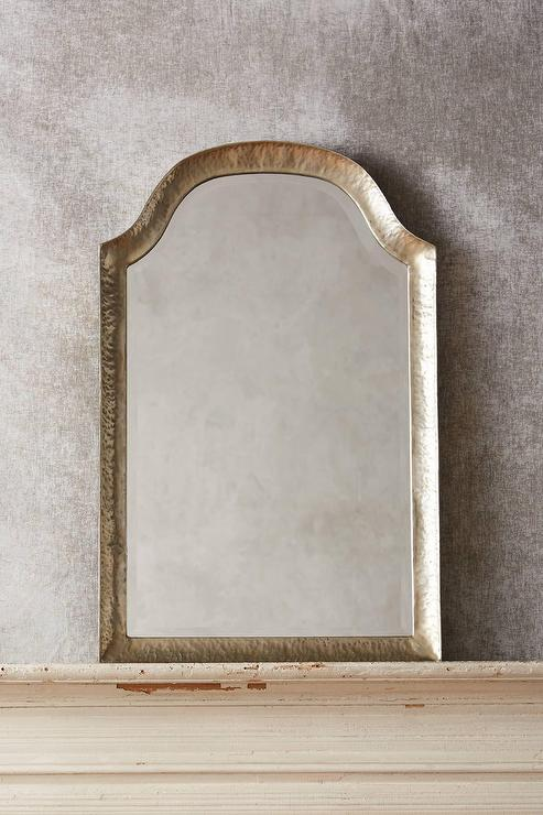 Marseille Hammered Gold Arched Mirror