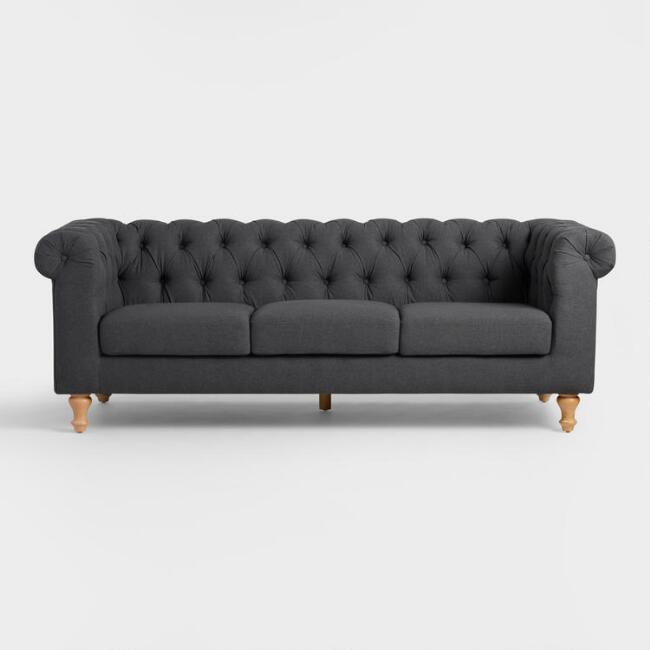 charcoal gray quentin chesterfield tufted sofa rh decorpad com charcoal grey tufted sofa charcoal gray tufted sofa