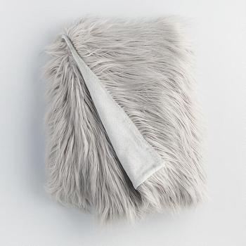 Luxe Fur Grey Bench
