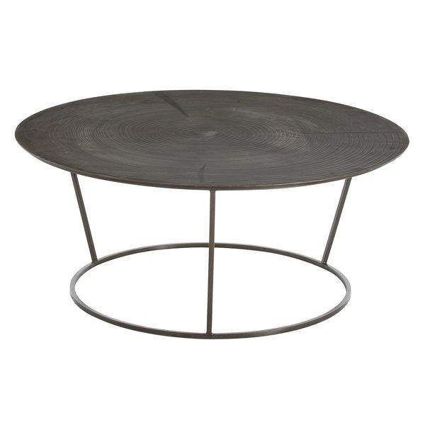 Sequoia Round Iron Acid Etched Coffee Table