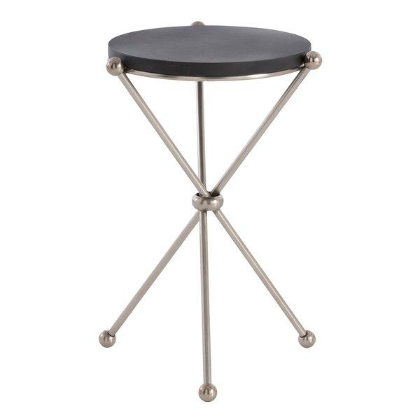 Chloe Round Black Steel Tripod End Table