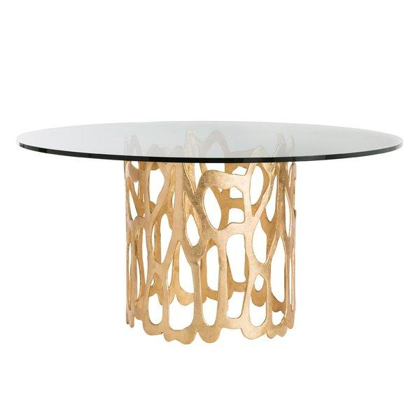 Worlds Away Jennifer Gold Leaf Dining Table I Layla Grayce