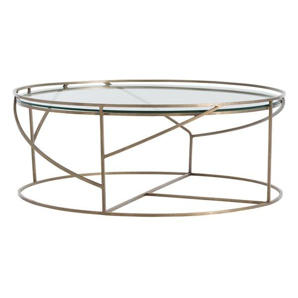 Rourke Geometric Round Gold Coffee Table - Geometric round coffee table