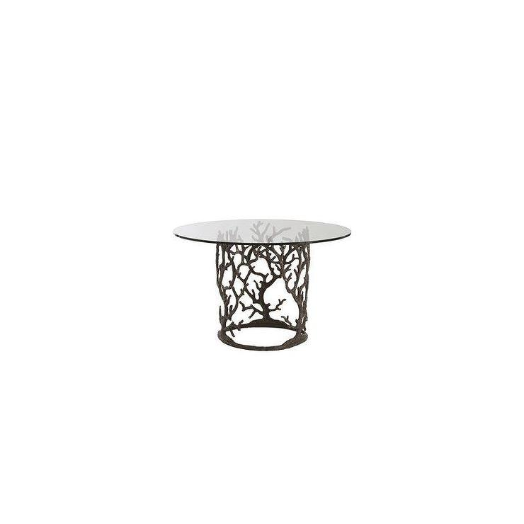 Mix match table arbor base solid wood top west elm for Cast iron and glass dining table