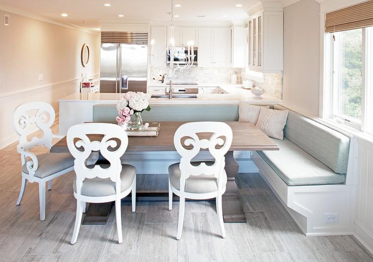 Dining Banquette On Back Of Kitchen Peninsula Design Ideas