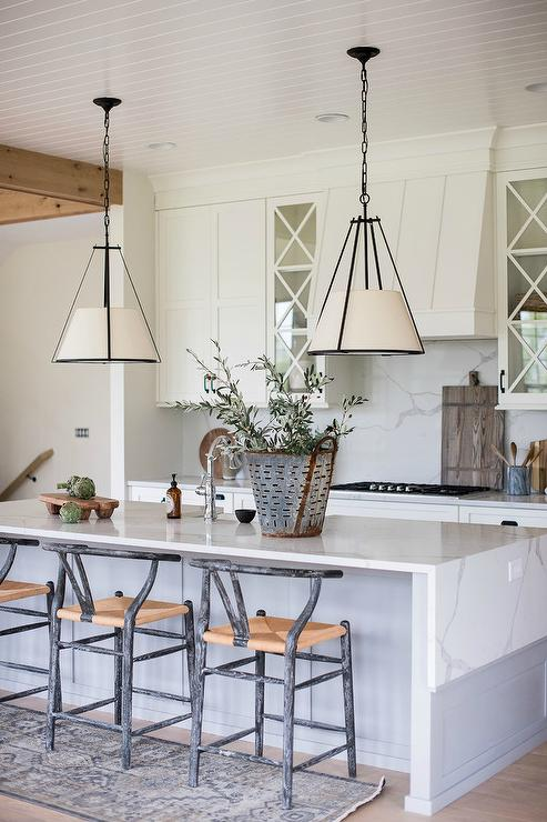 Wondrous Gray Wood And Marble Kitchen Island Transitional Kitchen Pdpeps Interior Chair Design Pdpepsorg