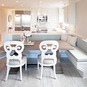 Kitchen Peninsula Dining Bench Design Ideas