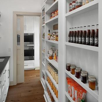 Narrow Walk In Pantry Design Ideas