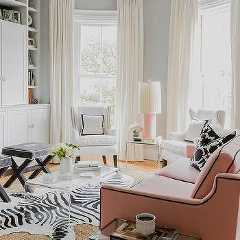 Charcoal Gray Velvet X Stools Design Ideas